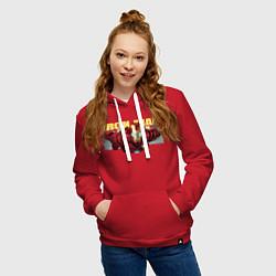 Толстовка-худи хлопковая женская Iron Man: Mark IV цвета красный — фото 2