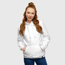 Толстовка-худи хлопковая женская TRAVIS SCOTT цвета белый — фото 2