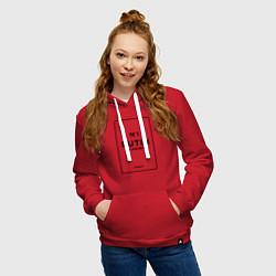 Толстовка-худи хлопковая женская Putin Chanel N1 цвета красный — фото 2