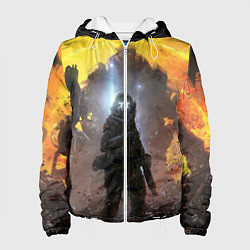 Куртка с капюшоном женская Titanfall: Robots War цвета 3D-белый — фото 1
