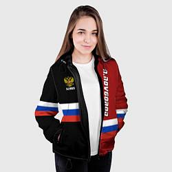 Куртка с капюшоном женская N Novgorod, Russia цвета 3D-черный — фото 2