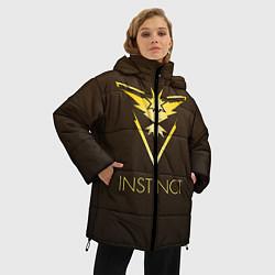 Женская зимняя 3D-куртка с капюшоном с принтом Pokemon 4, цвет: 3D-черный, артикул: 10101399806071 — фото 2