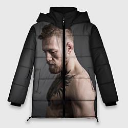 Женская зимняя 3D-куртка с капюшоном с принтом Конор Макгрегор, цвет: 3D-черный, артикул: 10102378706071 — фото 1