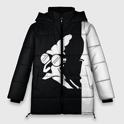 Женская зимняя 3D-куртка с капюшоном с принтом Grandfather: Black & White, цвет: 3D-черный, артикул: 10109127806071 — фото 1