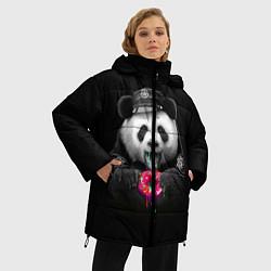 Куртка зимняя женская Donut Panda цвета 3D-черный — фото 2