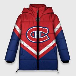 Женская зимняя 3D-куртка с капюшоном с принтом NHL: Montreal Canadiens, цвет: 3D-черный, артикул: 10112235206071 — фото 1