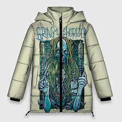 Женская зимняя 3D-куртка с капюшоном с принтом Bring Me The Horizon, цвет: 3D-черный, артикул: 10112870306071 — фото 1