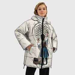 Женская зимняя 3D-куртка с капюшоном с принтом Bring Me The Horizon, цвет: 3D-черный, артикул: 10112871206071 — фото 2