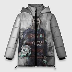 Женская зимняя 3D-куртка с капюшоном с принтом Lionel Messi, цвет: 3D-черный, артикул: 10113185306071 — фото 1