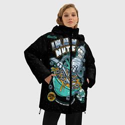 Женская зимняя 3D-куртка с капюшоном с принтом Iron Nuts, цвет: 3D-черный, артикул: 10113801206071 — фото 2
