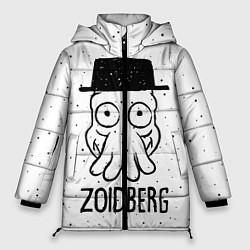 Женская зимняя 3D-куртка с капюшоном с принтом Zoidberg, цвет: 3D-черный, артикул: 10113802706071 — фото 1