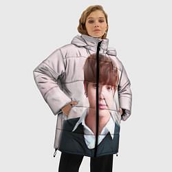 Женская зимняя 3D-куртка с капюшоном с принтом Kim SeokJin, цвет: 3D-черный, артикул: 10114633706071 — фото 2