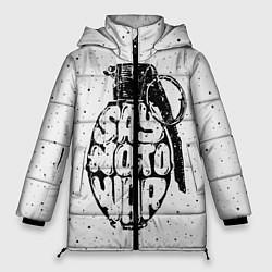 Куртка зимняя женская Say no to War цвета 3D-черный — фото 1