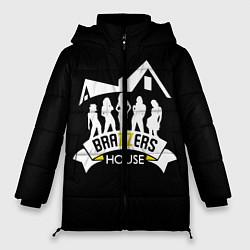 Женская зимняя 3D-куртка с капюшоном с принтом Brazzers House, цвет: 3D-черный, артикул: 10117837706071 — фото 1