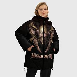 Женская зимняя 3D-куртка с капюшоном с принтом Megadeth, цвет: 3D-черный, артикул: 10118376206071 — фото 2