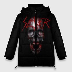 Женская зимняя 3D-куртка с капюшоном с принтом Slayer: Wild Skull, цвет: 3D-черный, артикул: 10119943706071 — фото 1