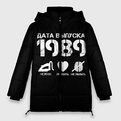 Женская зимняя 3D-куртка с капюшоном с принтом Дата выпуска 1989, цвет: 3D-черный, артикул: 10122753206071 — фото 1