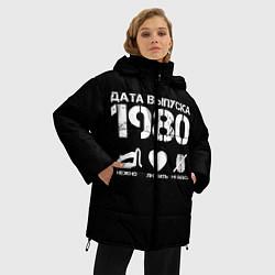 Женская зимняя 3D-куртка с капюшоном с принтом Дата выпуска 1980, цвет: 3D-черный, артикул: 10122755906071 — фото 2