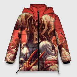 Женская зимняя 3D-куртка с капюшоном с принтом Dead island 5, цвет: 3D-черный, артикул: 10129110206071 — фото 1