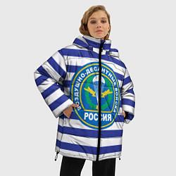 Женская зимняя 3D-куртка с капюшоном с принтом ВДВ Россия, цвет: 3D-черный, артикул: 10132434506071 — фото 2