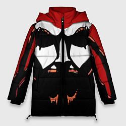 Женская зимняя 3D-куртка с капюшоном с принтом Metalocalypse: Dethklok Face, цвет: 3D-черный, артикул: 10134388506071 — фото 1