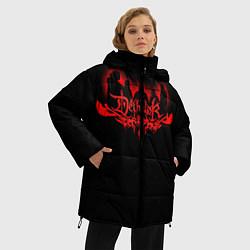 Женская зимняя 3D-куртка с капюшоном с принтом Dethklok, цвет: 3D-черный, артикул: 10134391306071 — фото 2