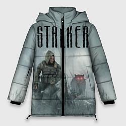 Женская зимняя 3D-куртка с капюшоном с принтом STALKER: Dusk, цвет: 3D-черный, артикул: 10135204306071 — фото 1