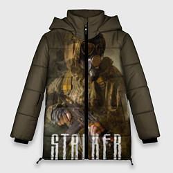 Женская зимняя 3D-куртка с капюшоном с принтом STALKER: Warrior, цвет: 3D-черный, артикул: 10135205706071 — фото 1