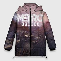 Женская зимняя 3D-куртка с капюшоном с принтом Metro Exodus, цвет: 3D-черный, артикул: 10135428906071 — фото 1