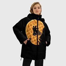 Женская зимняя 3D-куртка с капюшоном с принтом Wafer Rider, цвет: 3D-черный, артикул: 10135944906071 — фото 2