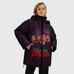 Женская зимняя 3D-куртка с капюшоном с принтом Группа Imagine Dragons, цвет: 3D-черный, артикул: 10138284506071 — фото 2