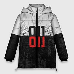 Женская зимняя 3D-куртка с капюшоном с принтом Stranger Things 011, цвет: 3D-черный, артикул: 10140033306071 — фото 1