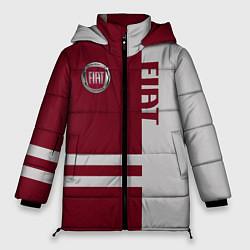 Женская зимняя 3D-куртка с капюшоном с принтом Fiat, цвет: 3D-черный, артикул: 10147167306071 — фото 1