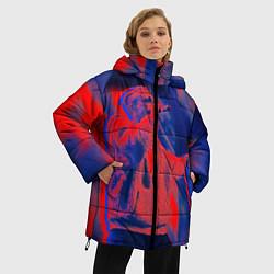Женская зимняя 3D-куртка с капюшоном с принтом T-Fest: Neon Style, цвет: 3D-черный, артикул: 10147367706071 — фото 2