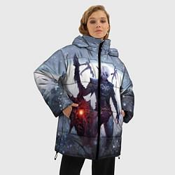 Женская зимняя 3D-куртка с капюшоном с принтом Dark Knight, цвет: 3D-черный, артикул: 10147779106071 — фото 2