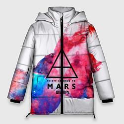 Женская зимняя 3D-куртка с капюшоном с принтом 30 Seconds to Mars, цвет: 3D-черный, артикул: 10150493306071 — фото 1