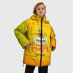 Куртка зимняя женская Happy Birthday цвета 3D-черный — фото 2