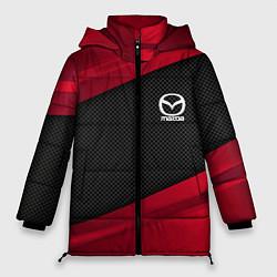 Женская зимняя 3D-куртка с капюшоном с принтом Mazda: Red Sport, цвет: 3D-черный, артикул: 10153000306071 — фото 1