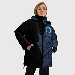 Женская зимняя 3D-куртка с капюшоном с принтом CS:GO Team Liquid, цвет: 3D-черный, артикул: 10154948506071 — фото 2