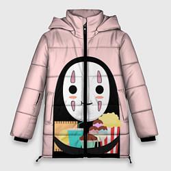 Женская зимняя 3D-куртка с капюшоном с принтом Унесенные призраками, цвет: 3D-черный, артикул: 10155852506071 — фото 1