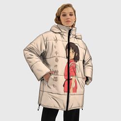 Женская зимняя 3D-куртка с капюшоном с принтом Унесённые призраками, цвет: 3D-черный, артикул: 10155933306071 — фото 2