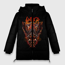 Женская зимняя 3D-куртка с капюшоном с принтом Slayer Hell, цвет: 3D-черный, артикул: 10156600906071 — фото 1