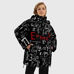 Женская зимняя 3D-куртка с капюшоном с принтом Формулы физики, цвет: 3D-черный, артикул: 10160468506071 — фото 2