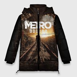 Женская зимняя 3D-куртка с капюшоном с принтом Metro Exodus: Sunset, цвет: 3D-черный, артикул: 10161309306071 — фото 1
