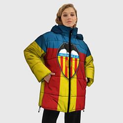 Женская зимняя 3D-куртка с капюшоном с принтом Valencia C.F., цвет: 3D-черный, артикул: 10162062106071 — фото 2