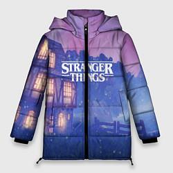 Женская зимняя 3D-куртка с капюшоном с принтом Stranger Things: Magic House, цвет: 3D-черный, артикул: 10167403906071 — фото 1
