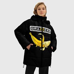 Женская зимняя 3D-куртка с капюшоном с принтом Brazzers: Black Banana, цвет: 3D-черный, артикул: 10167454706071 — фото 2