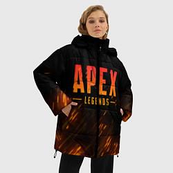 Женская зимняя 3D-куртка с капюшоном с принтом Apex Legends: Battle Royal, цвет: 3D-черный, артикул: 10172158306071 — фото 2