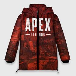 Женская зимняя 3D-куртка с капюшоном с принтом Apex Legends: Boiling Blood, цвет: 3D-черный, артикул: 10172291506071 — фото 1