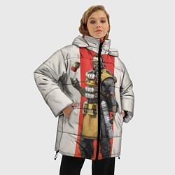 Женская зимняя 3D-куртка с капюшоном с принтом Apex Legends: Caustic, цвет: 3D-черный, артикул: 10172774106071 — фото 2